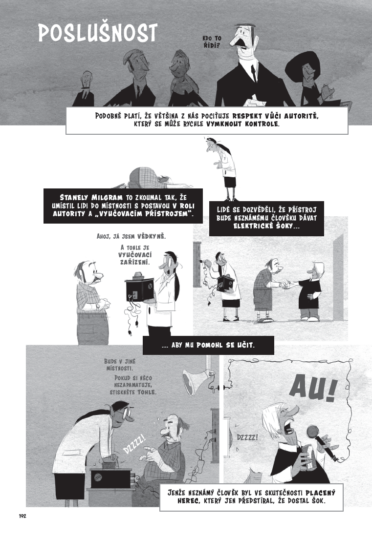 Psychologie - komiksový úvod ukázka