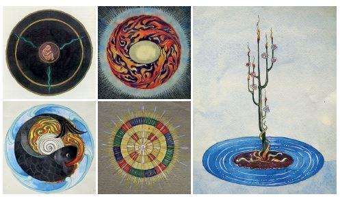 C.G. Jung Kniha obrazů psychologie psychoanalýza hlubinná terapie výtvarné umění mandaly