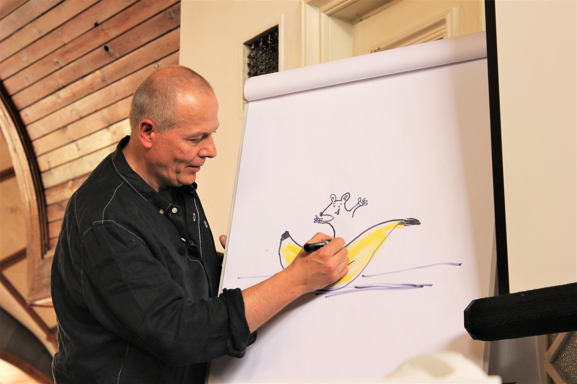 Petr Horáček ilustrátor autor dětská kniha Myška, která se nebála