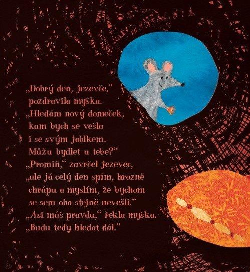 Nový domek pro myšku  Petr Horáček dětská ilustrovaná kniha