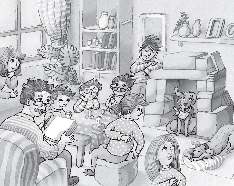 Ella a superstar Timo Parvela dětská kniha ilustrace